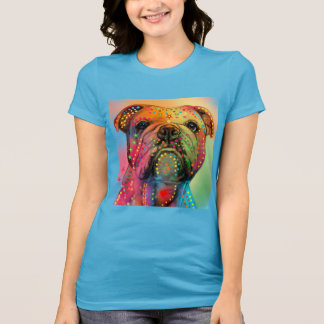 Beautiful Colourful Bulldog Art T-Shirt