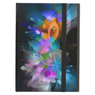 Beautiful colourful cool splatter flowers leaves iPad folio cases