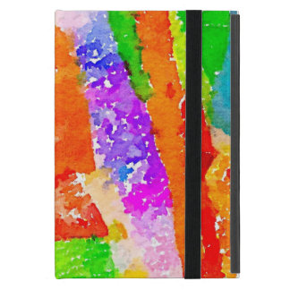 Beautiful Colourful Painted Paper Collage Case For iPad Mini