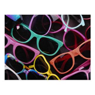 Beautiful Colourful sunglasses Postcard