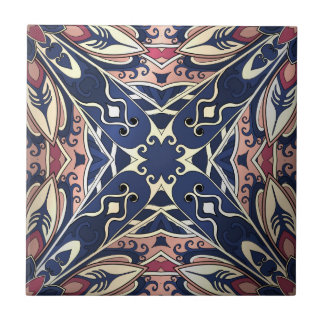 Beautiful complicated colorful ornament. tile