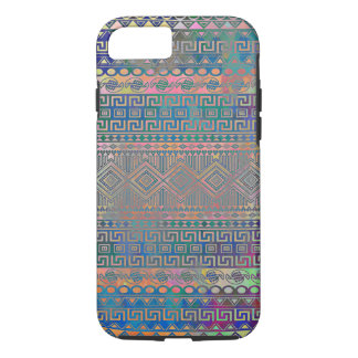 Beautiful cool colourful Aztec geometric pattern iPhone 7 Case