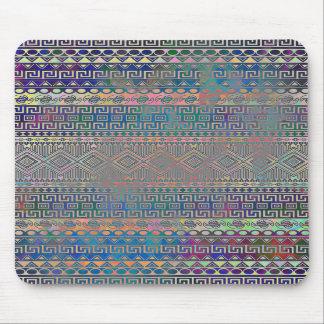 Beautiful cool colourful Aztec geometric pattern Mouse Pads