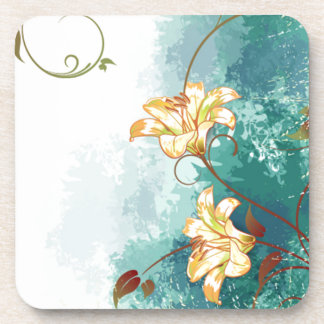 Beautiful cool different blue tones watercolour drink coasters