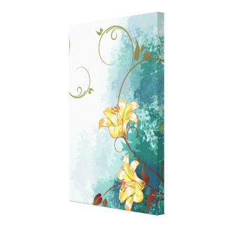 Beautiful cool different blue tones watercolour gallery wrap canvas