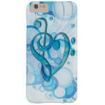 Beautiful cool music notes together as a heart barely there iPhone 6 plus case