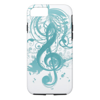 Beautiful cool music notes with splatter swirls iPhone 8/7 case