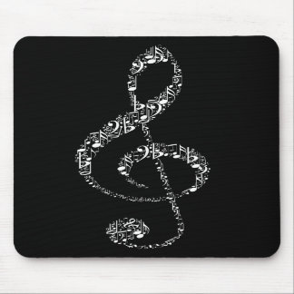 Beautiful cool white music notes mouse pads