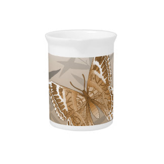 Beautiful Copper Butterfly Design Beverage Pitchers
