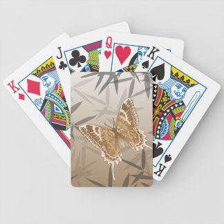Beautiful Copper Butterfly Design Bicycle Playing Cards