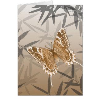 Beautiful Copper Butterfly Design Card