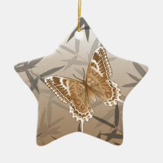 Beautiful Copper Butterfly Design Ceramic Star Decoration