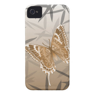 Beautiful Copper Butterfly Design iPhone 4 Cases