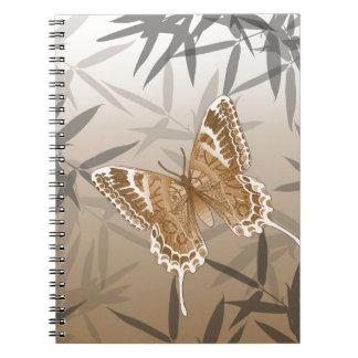 Beautiful Copper Butterfly Design Notebook