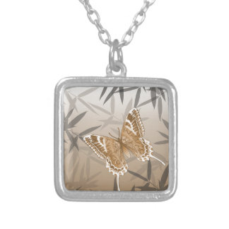 Beautiful Copper Butterfly Design Silver Plated Necklace