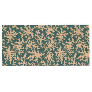 Beautiful Coral Pattern Wood USB 2.0 Flash Drive