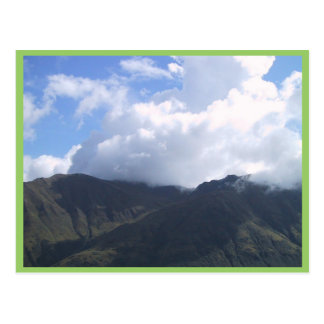 Beautiful Cotton Cloud Floating Over The Mountain Postcard