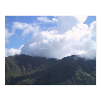 Beautiful Cotton Cloud Floating Over The Mountain Post Card