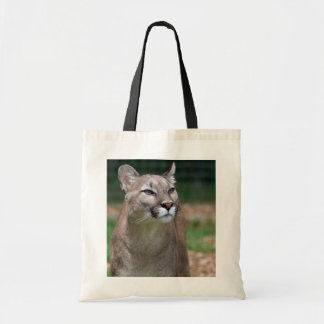 Beautiful cougar photo shopping tote bag