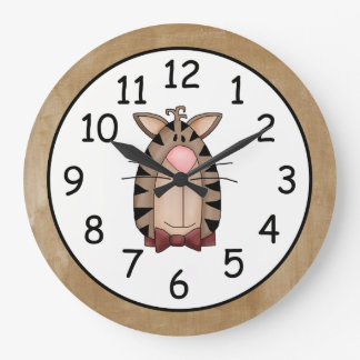 Beautiful Country Cat Large Clock