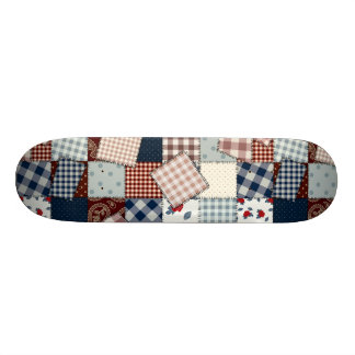 Beautiful Country Patchwork Quilt Skate Board