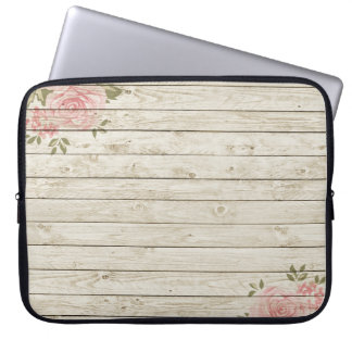 Beautiful Country Shabby Chic Rustic Wood Laptop Computer Sleeve