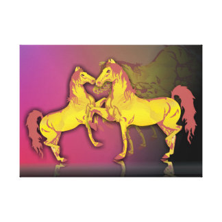 Beautiful couple of horse canvas print