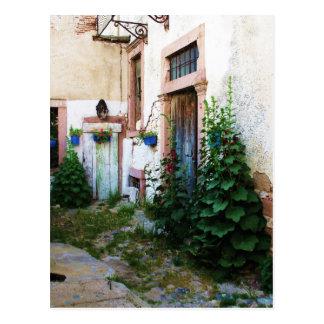 Beautiful Courtyard in Crete, Greece Postcard