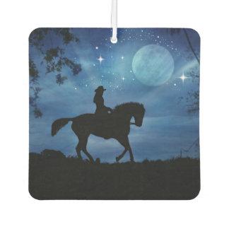 Beautiful Cowgirl And Horse Air Freshener