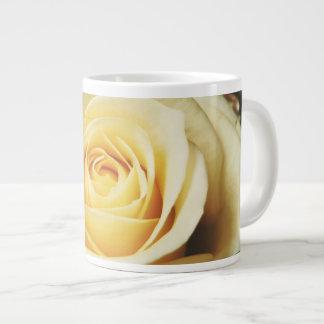 Beautiful cream Rose Large Coffee Mug