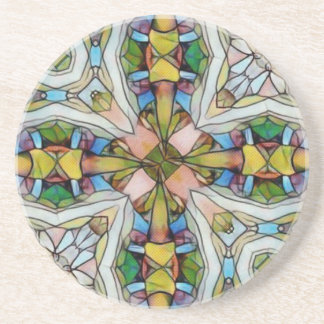 Beautiful Cross Shaped Stained Glass Inspirational Coaster