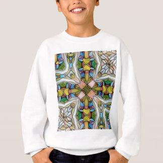 Beautiful Cross Shaped Stained Glass Inspirational Sweatshirt