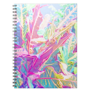 Beautiful croton leaves (2) notebooks