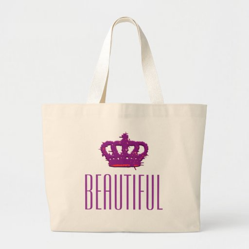 Beautiful Crown Jumbo Tote Tote Bags