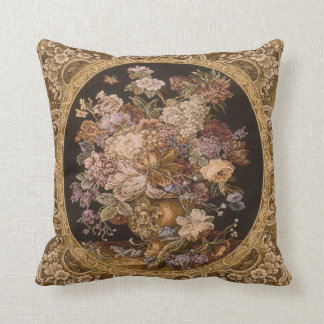 Beautiful cushion with antique tapestry design.
