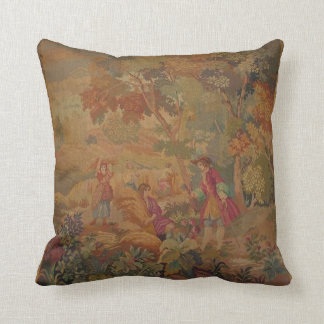 Beautiful cushion with antique tapestry design