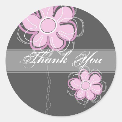 Beautiful Custom Floral Sticker