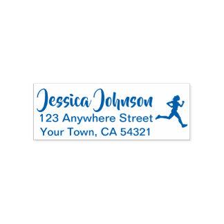 Beautiful Custom Name Return Address Runner Self-inking Stamp