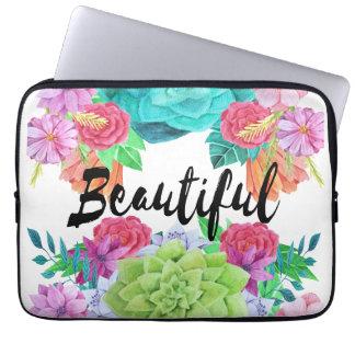 Beautiful Custom Watercolour Laptop sleeve