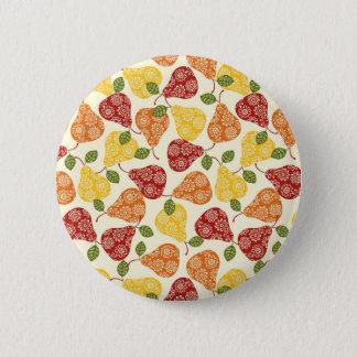 Beautiful Cute pears in autumn colors 6 Cm Round Badge