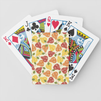 Beautiful Cute pears in autumn colors Bicycle Playing Cards