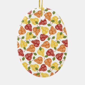 Beautiful Cute pears in autumn colors Ceramic Ornament