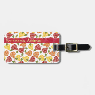 Beautiful Cute pears in autumn colors Luggage Tag