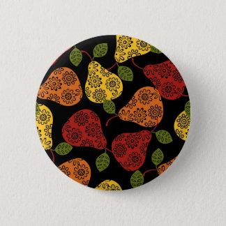 Beautiful Cute pears, yellow,  orange, maroon 6 Cm Round Badge
