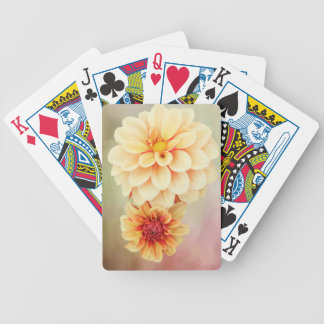 Beautiful Dahlia Blossoms in Warm Hues Bicycle Playing Cards