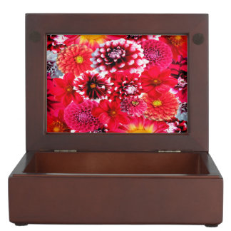 Beautiful Dahlia Collage Memory Box