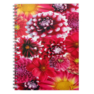 Beautiful Dahlia Collage Note Book