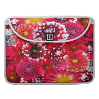 Beautiful Dahlia Collage Sleeves For MacBooks