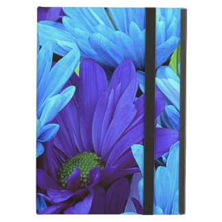 Beautiful Daisies in Indigo Blue, Chartreuse Green iPad Air Cover