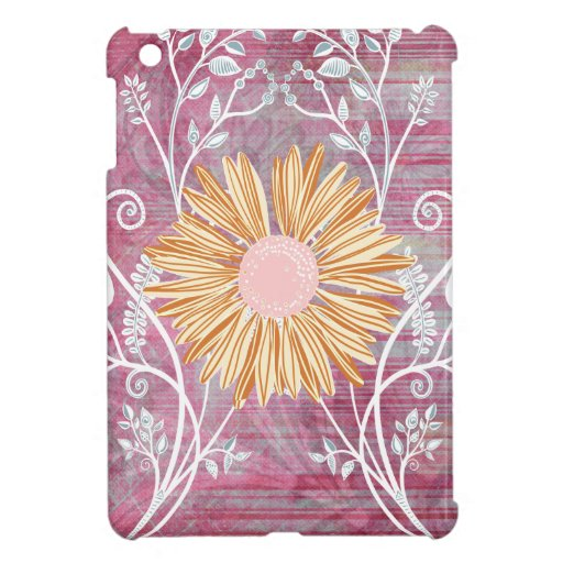 Beautiful Daisy Flower Distressed Floral Chic iPad Mini Cover